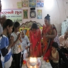 Students of Saraswati School visited an old age home
